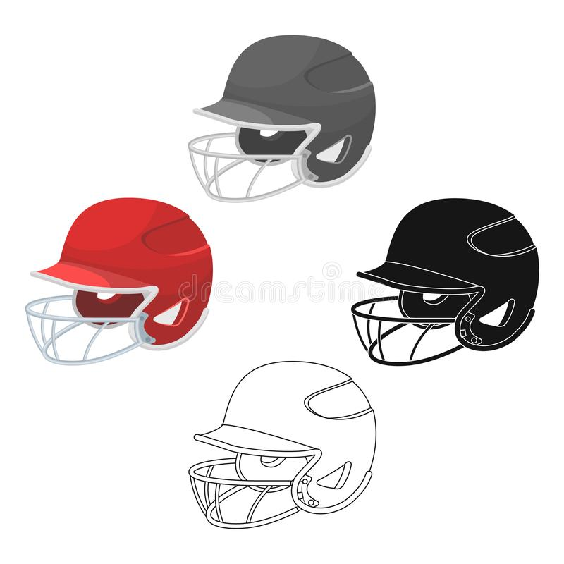 棒球盔甲 在动画片,黑样式传染媒介标志股票例证网的棒球唯一象 库存例证
