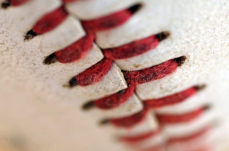 棒球缝合宏指令 免版税库存照片