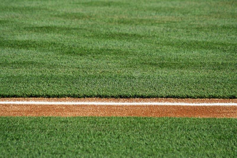 棒球草拟域 免版税库存图片