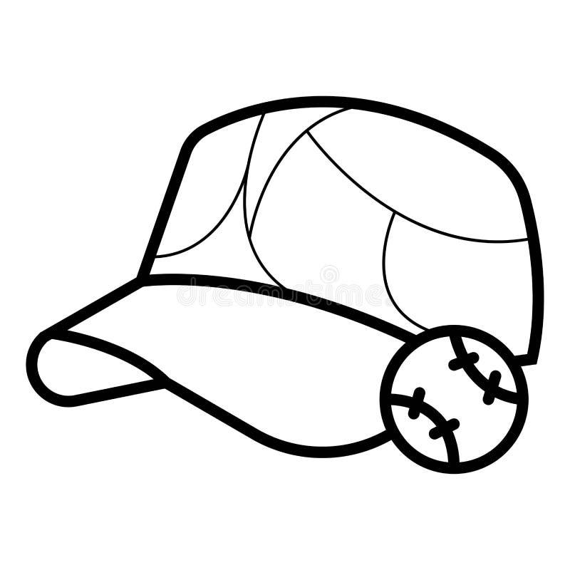 棒球象 库存例证
