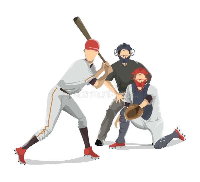 棒球运动员队 皇族释放例证