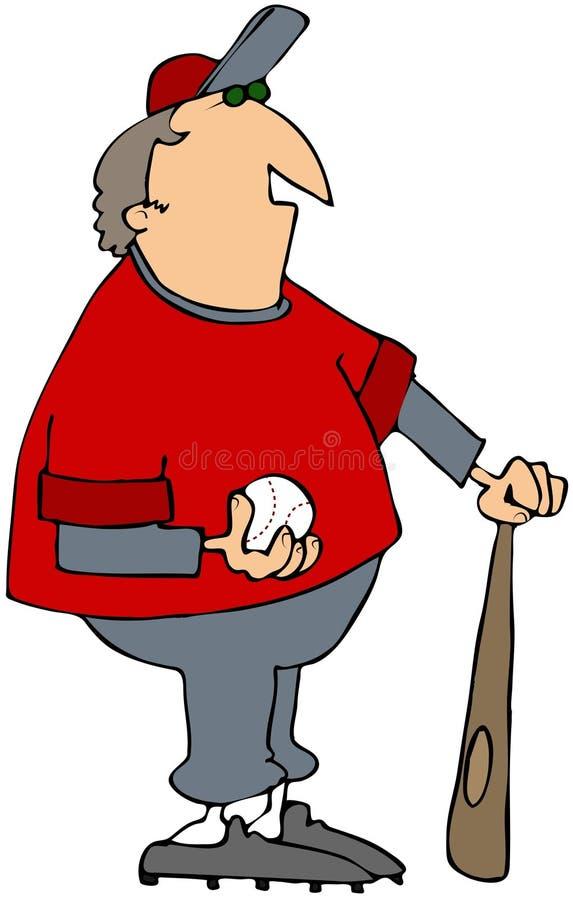 棒球运动员 皇族释放例证
