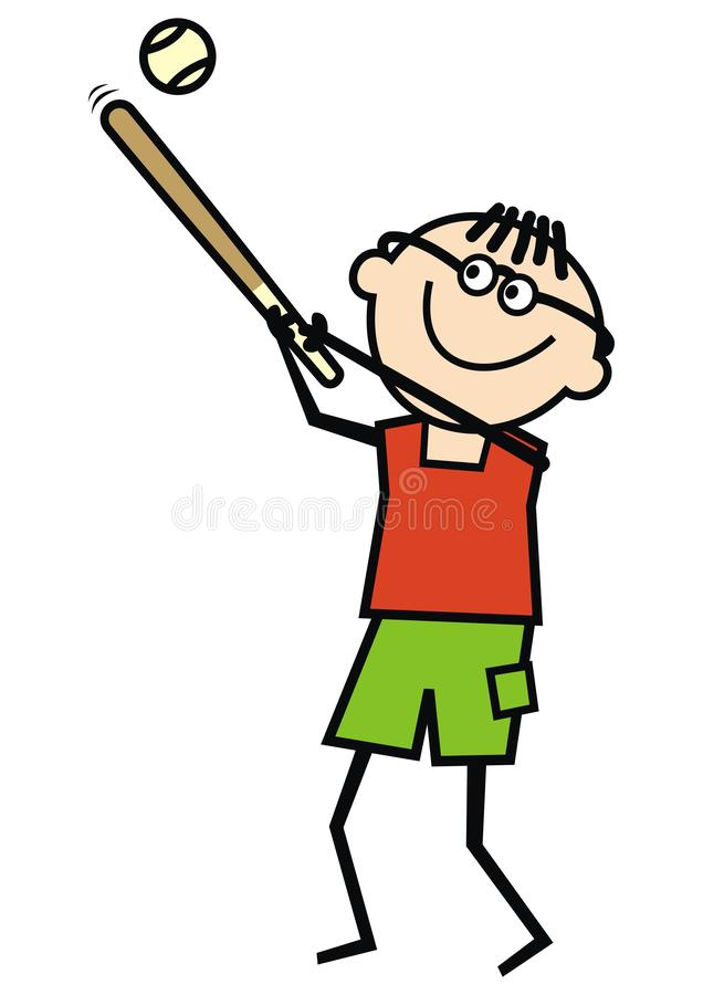 棒球选手,唯一人,滑稽的传染媒介例证 皇族释放例证