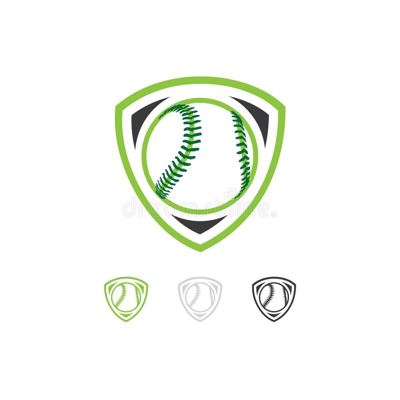 棒球队商标传染媒介设计 皇族释放例证