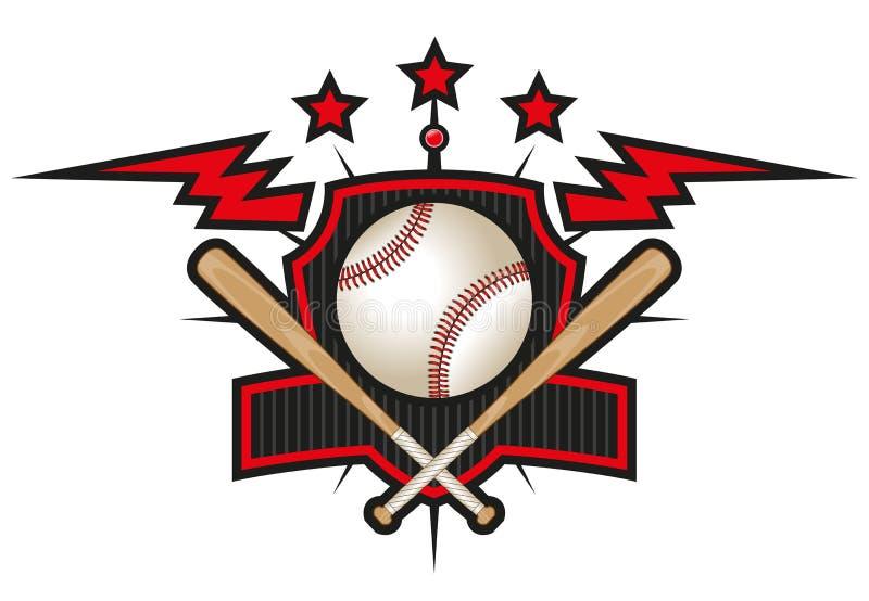 棒球队商标 向量例证
