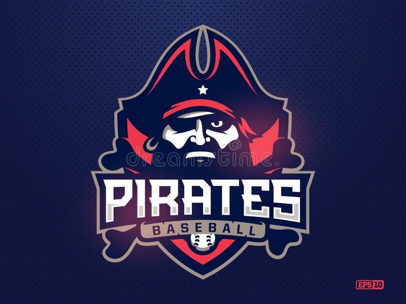 棒球队的现代专业象征海盗 皇族释放例证