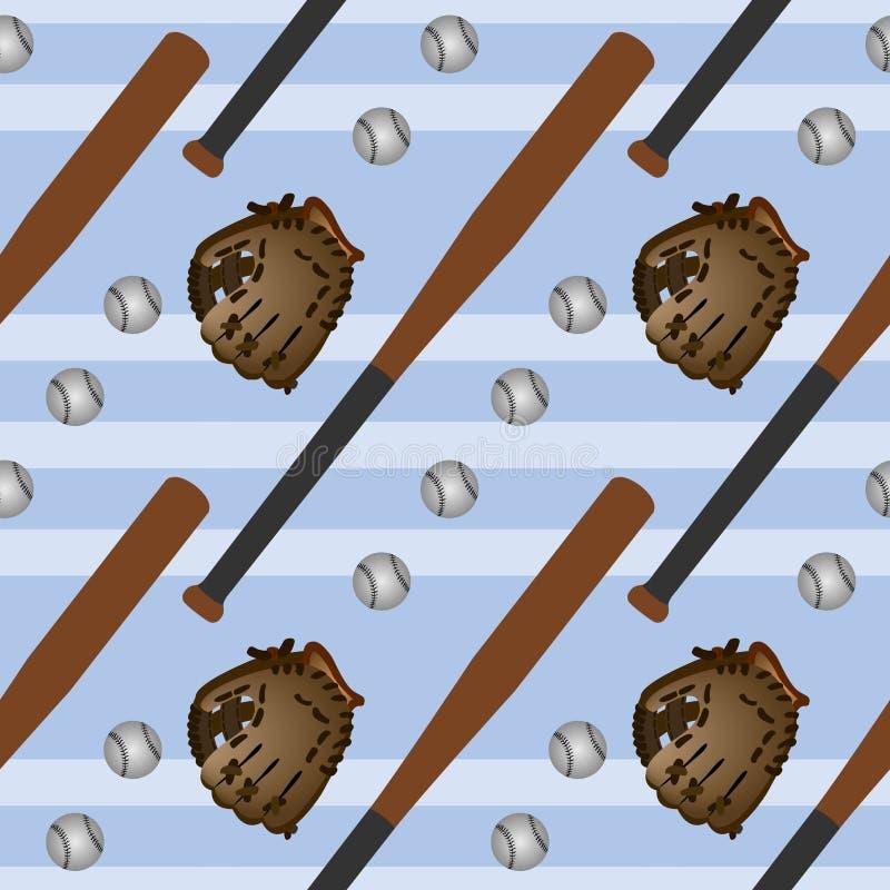 棒球集合无缝的背景设计 皇族释放例证