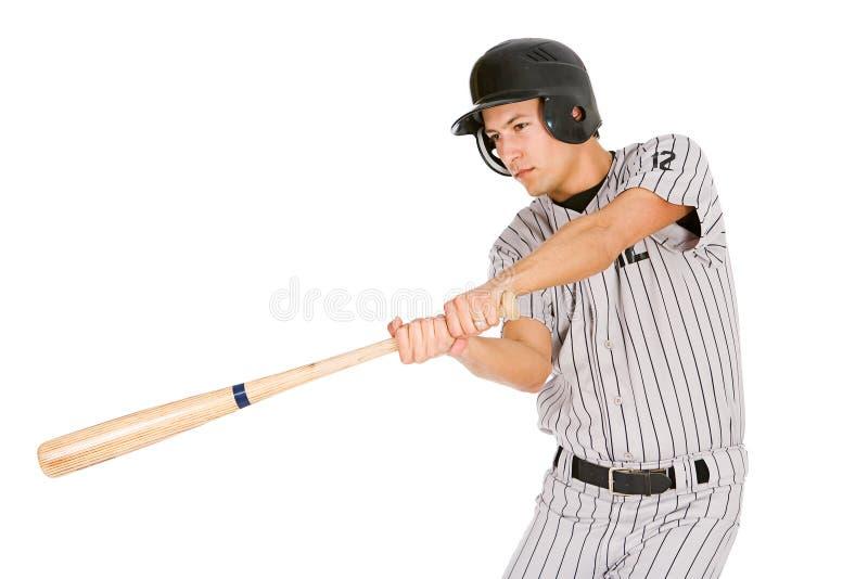 棒球:球员摇摆的棒 库存图片