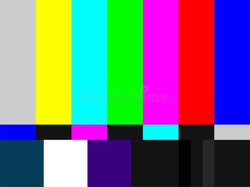棒色的信号电视 库存例证