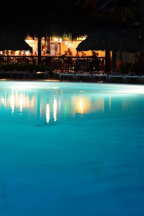 棒节假日晚上池手段假期 库存照片