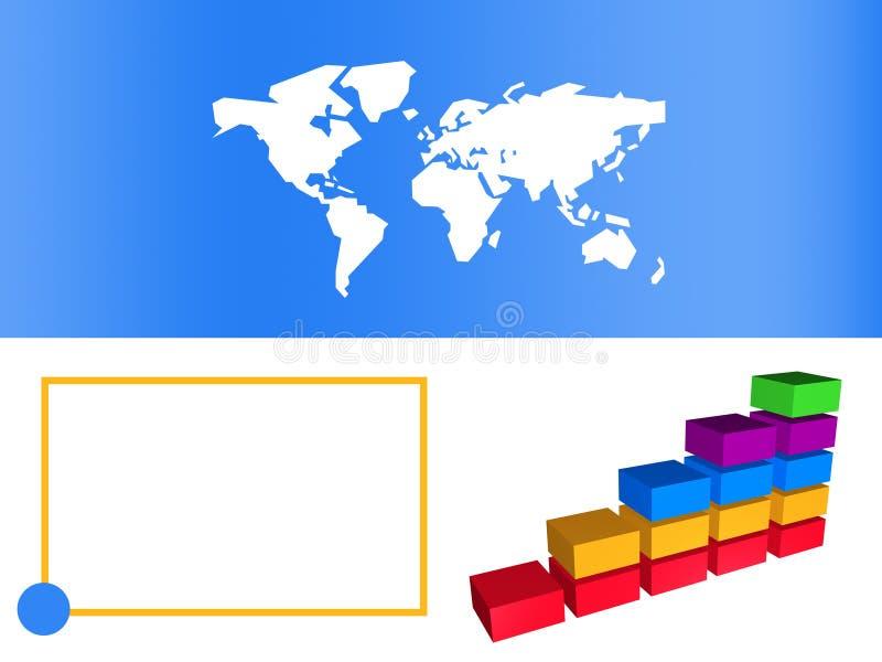 棒蓝色企业图表增长陈列 向量例证