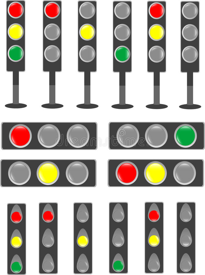 棒轻的信号量状态业务量 库存例证
