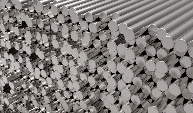 棒金属 向量例证