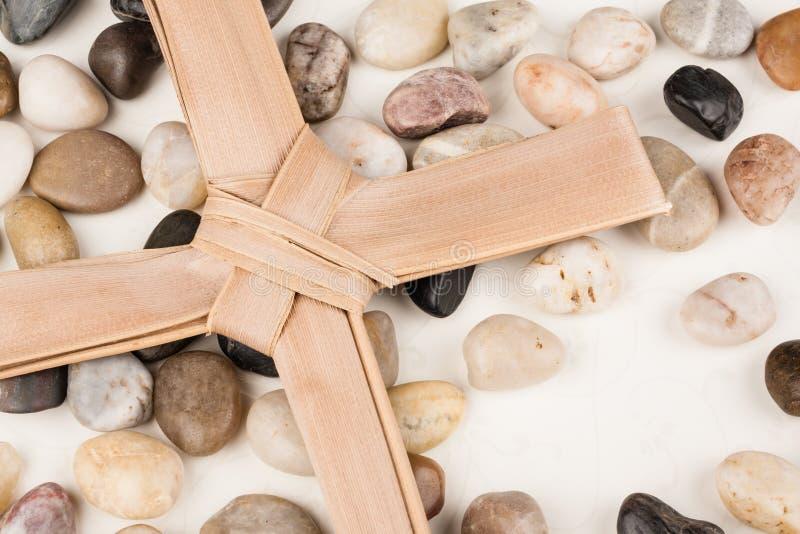 棕榈十字架 库存图片