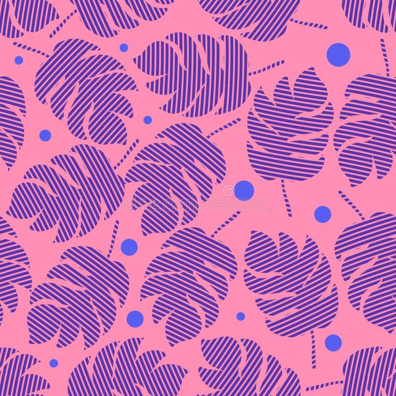 棕榈叶无缝的样式 皇族释放例证