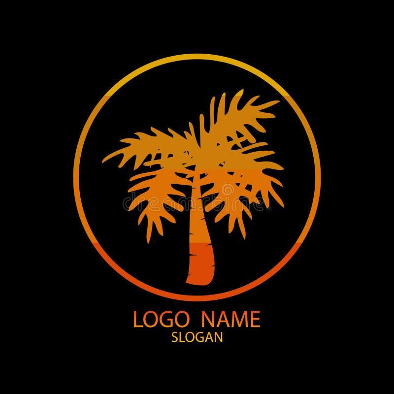 棕榈树商标  向量例证