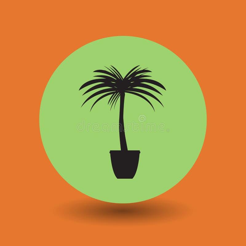 棕榈树标志 向量例证