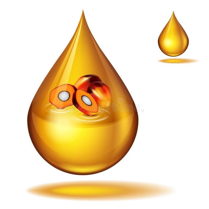 棕榈油水滴  库存例证