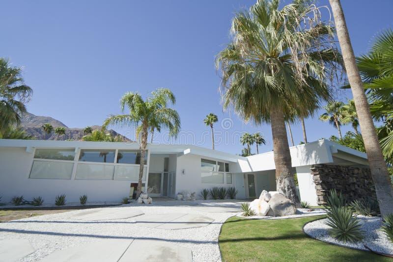 棕榈泉之家 免版税库存照片
