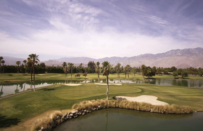 棕榈泉和丝光斜纹棉布峡谷看法  免版税库存照片