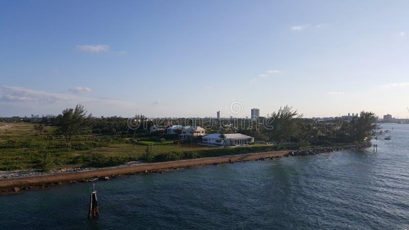 棕榈滩入口口岸  免版税图库摄影