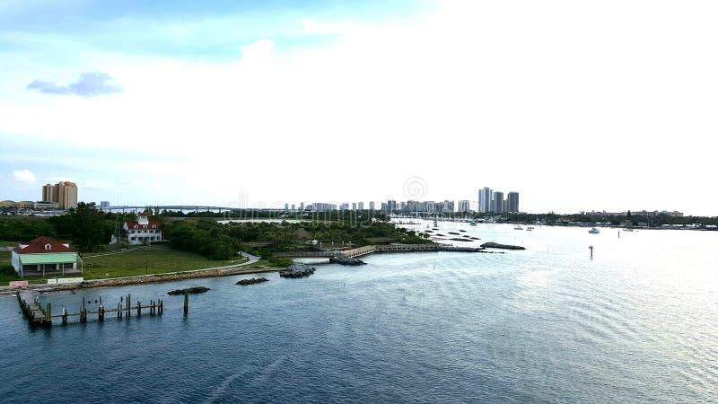 棕榈滩港  库存照片