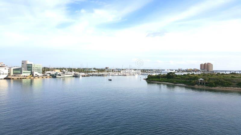 棕榈滩港  库存图片