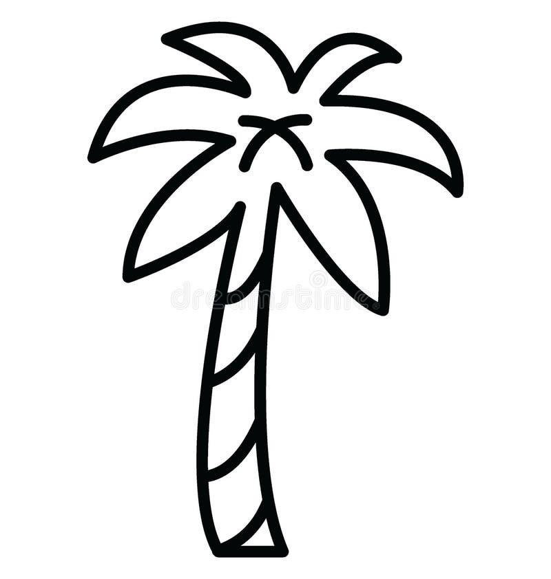 棕榈隔绝了可能容易地修改或编辑的传染媒介象 皇族释放例证