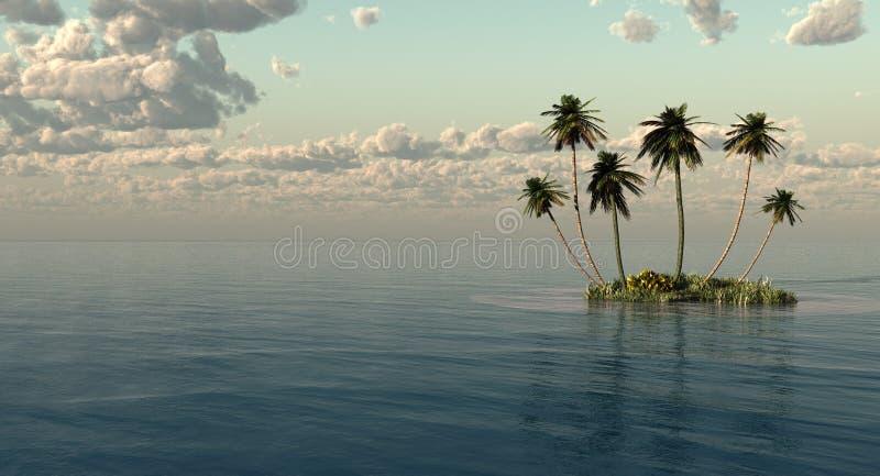 棕榈 皇族释放例证