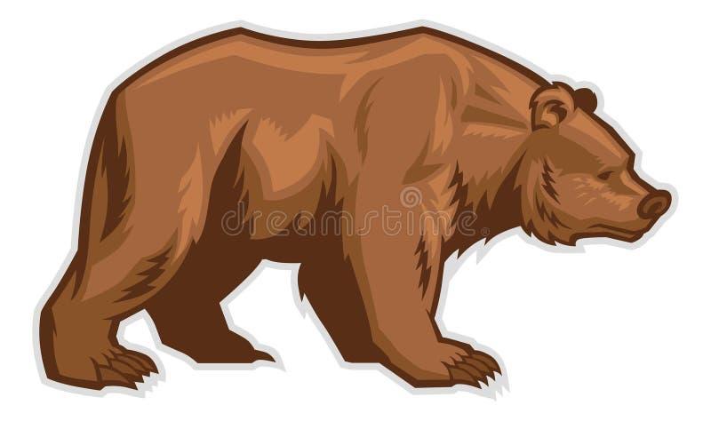 棕熊吉祥人 向量例证