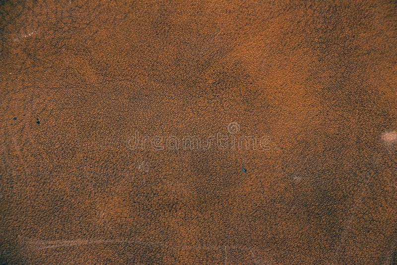 棕色人造革纹理  库存图片