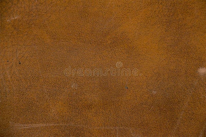 棕色人造革纹理  图库摄影
