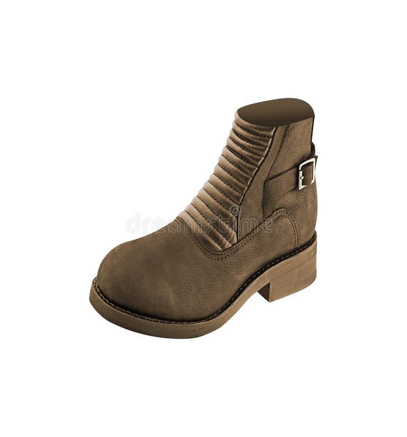 棕色人鞋子 免版税图库摄影