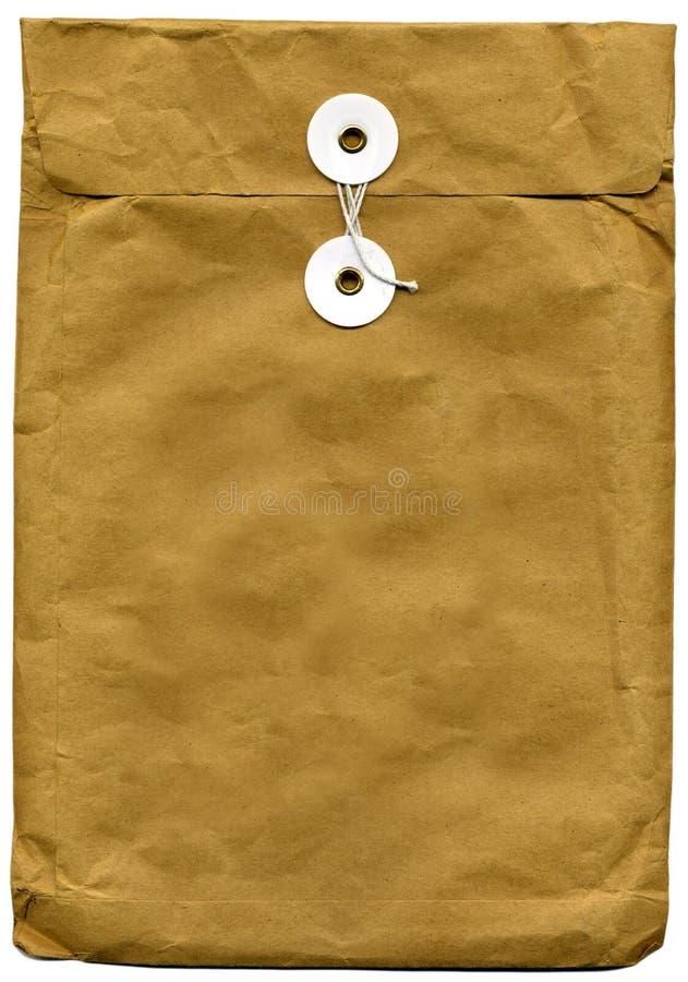棕色信包 免版税库存照片