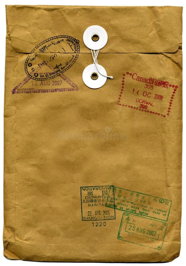 棕色信包 免版税图库摄影