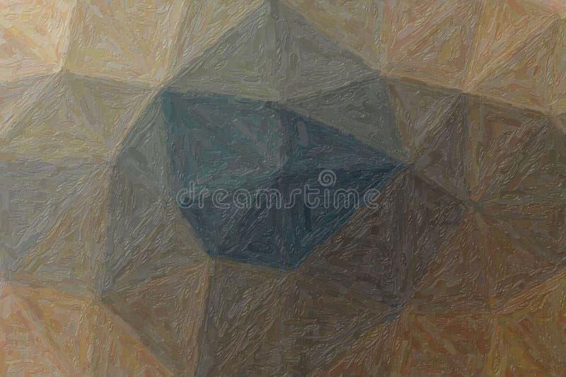 棕色印象主义者Impasto油漆的英俊的抽象例证 您的工作的美好的背景 库存例证