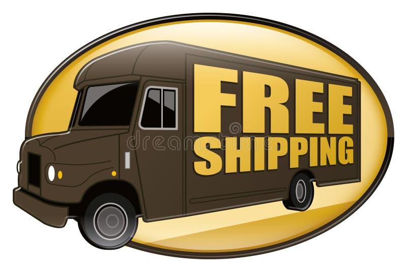 棕色发运自由发运卡车 皇族释放例证