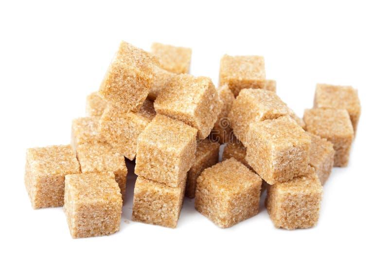 棕色多维数据集查出的糖 库存照片