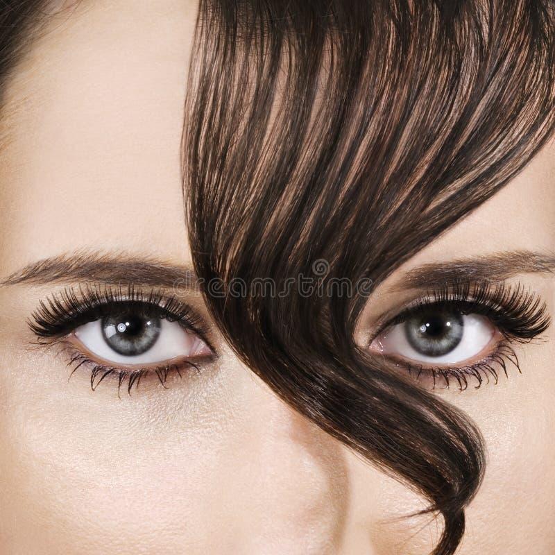 棕色头发 库存照片