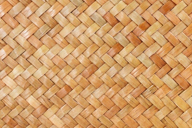 棕色家具materia的工艺品织法纹理柳条表面传统泰国样式样式自然背景  免版税库存图片