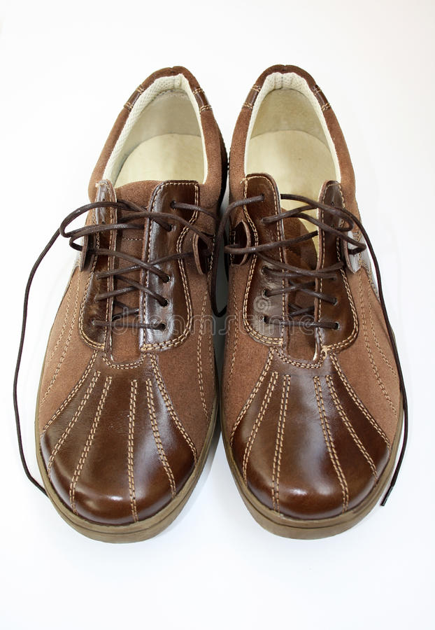 棕色对鞋子 免版税库存照片