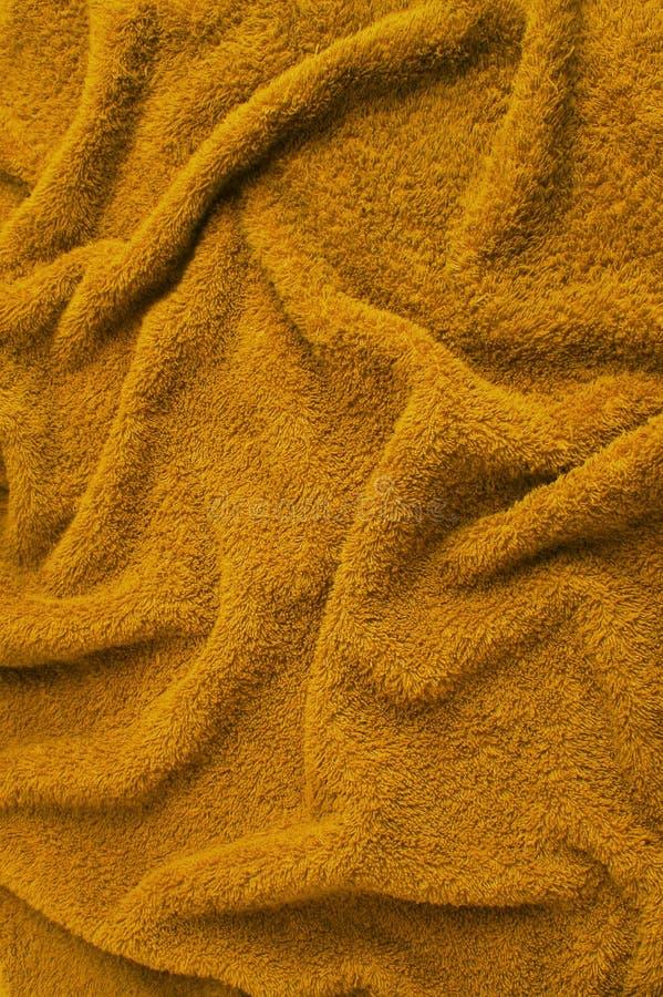 棕色布料特里毛巾 免版税库存图片