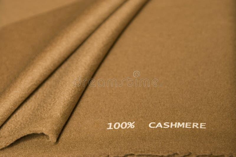 棕色开士米织品 库存图片