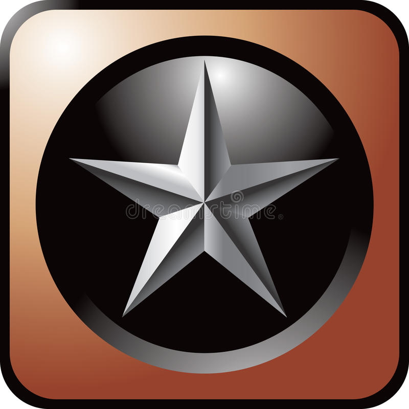 棕色按钮银星形万维网 皇族释放例证