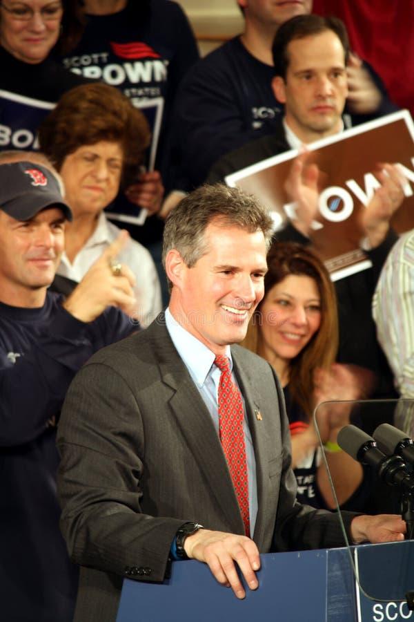 棕色斯科特参议员微笑 库存图片