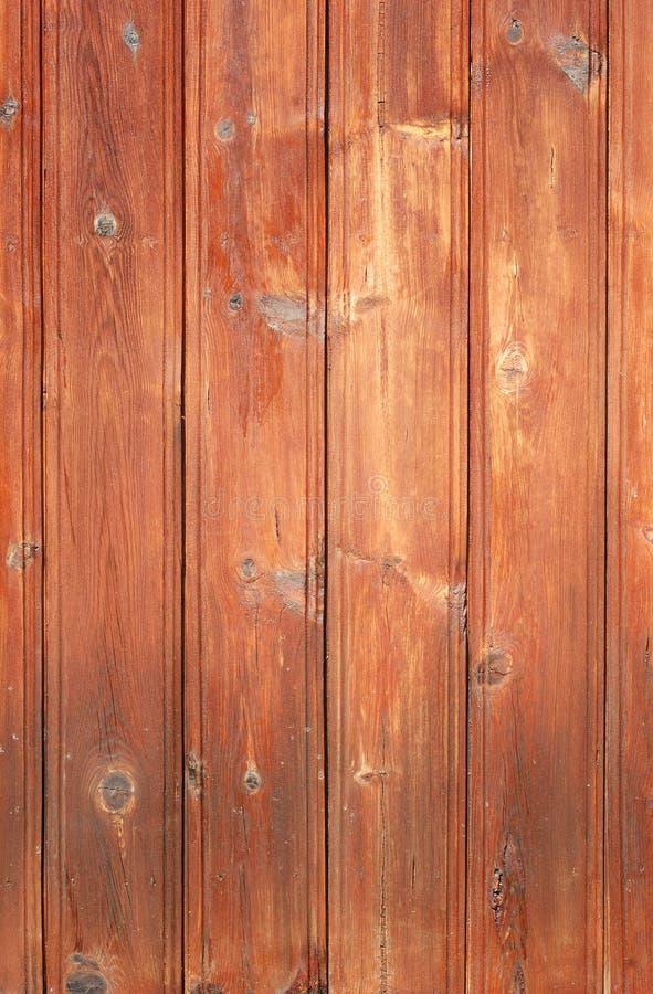 棕色板条木被弄脏的纹理的墙壁 库存照片