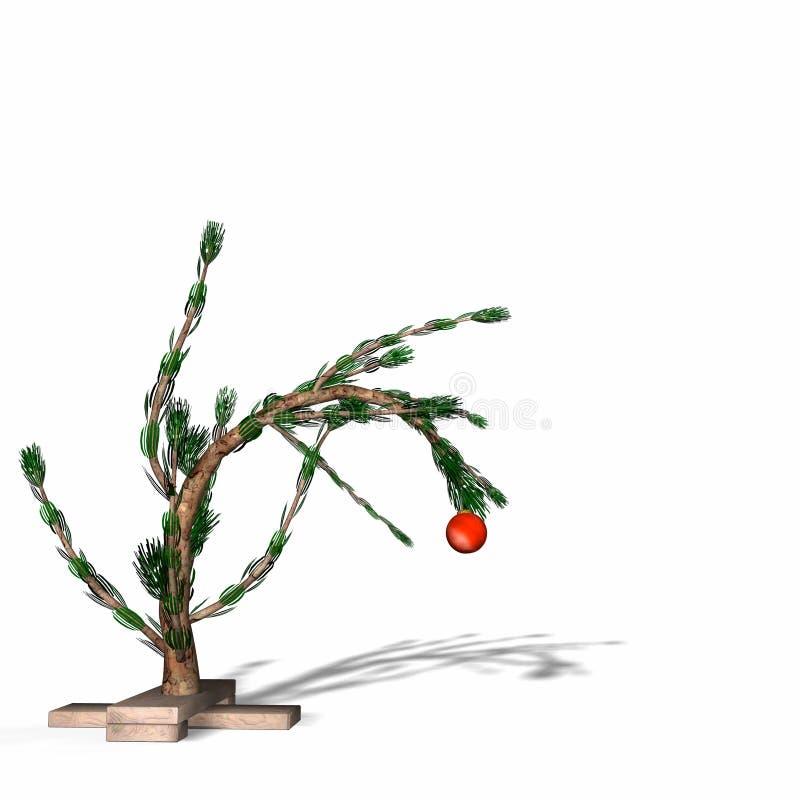 棕色查理圣诞节样式结构树 库存例证