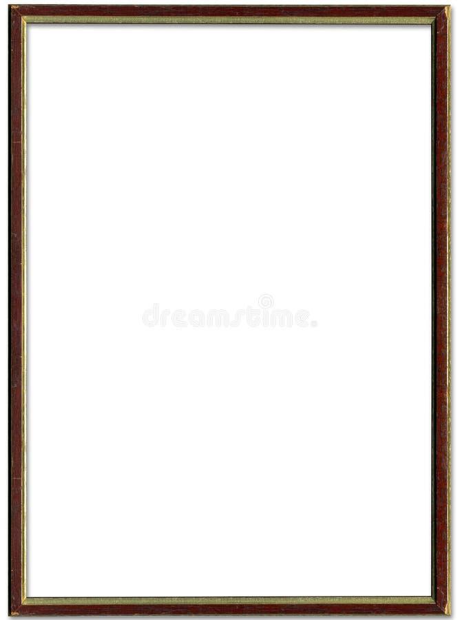棕色框架金照片 向量例证