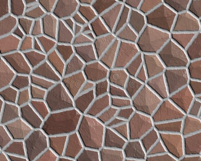 棕色模式粗砺的石墙 免版税库存照片