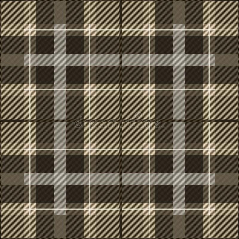 棕色模式苏格兰人口气 库存例证